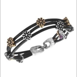 Lucky Brand Jewelry - • Lucky Brand • black leather cord charm bracelet